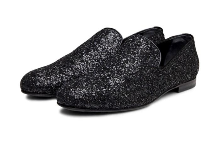 Jimmy Choo Glitter Penny Loafers
