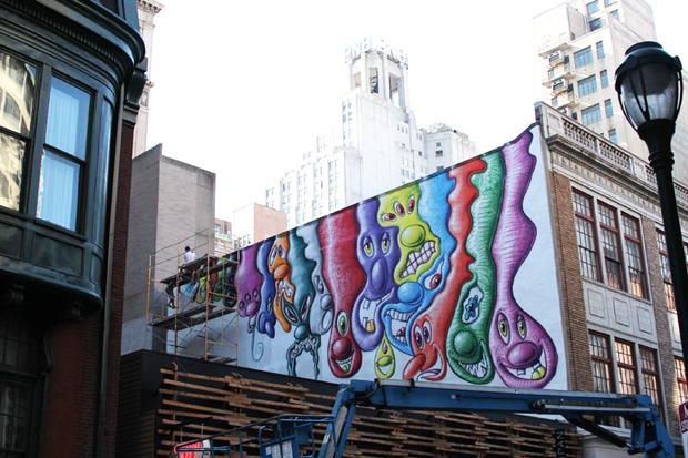 kenny scharf mural in philadelphia