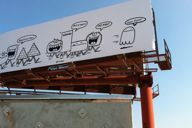 Kevin Lyons 'Monsters' Billboard in Los Angeles
