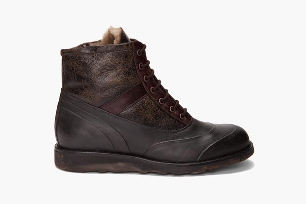 maison martin margiela fur lined boots