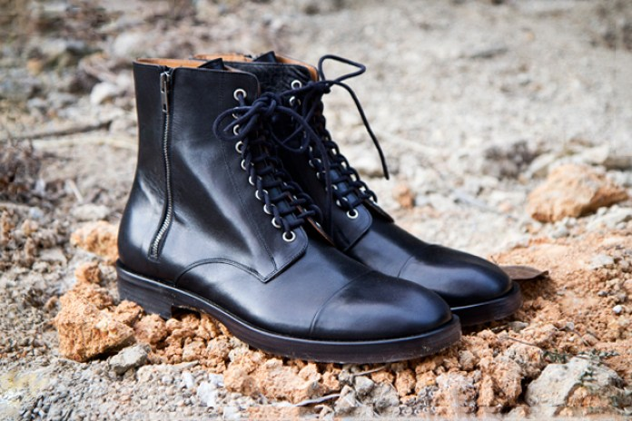 Maison Martin Margiela Leather Lace Up Boots