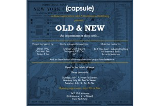 """Old & New"" Pop-Up Shop New York"