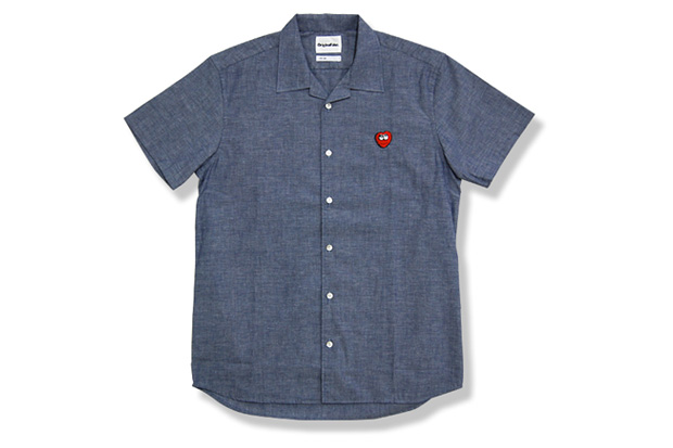 """OriginalFake """"Hate Heart"""" Chambray Shirt"""