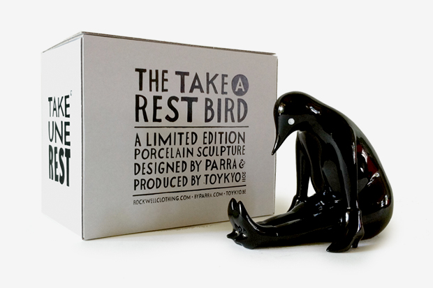 parra x toykyo take a rest sculpture black edition