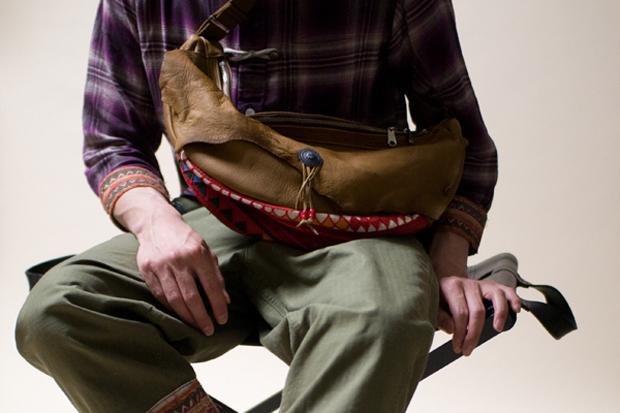 rehacer x ANOUTCOMMUNE Deerskin Shoulder Bag