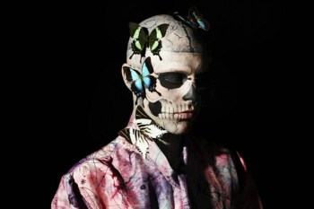 Rick Genest by Aline & Jacqueline Tappia for GQ Italia