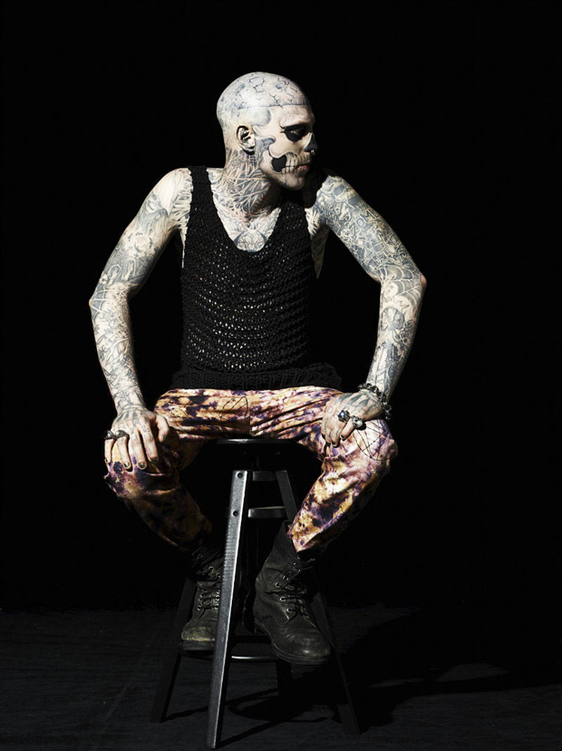 rick genest by aline jacqueline tappia for gq italia