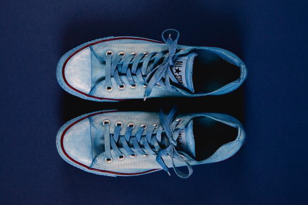 tenue de nimes x converse indigo dyed chuck taylor all star