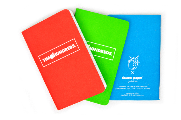 The Hundreds x Doane Paper Utility Notebooks