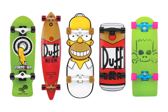 The Simpsons x Santa Cruz Cruzers