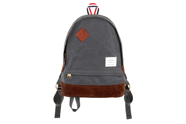 thom browne canvas backpack