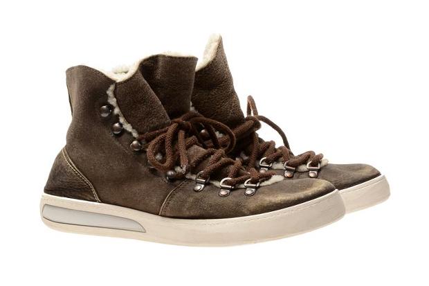 White Premiata Shearling Baseball Sneakers