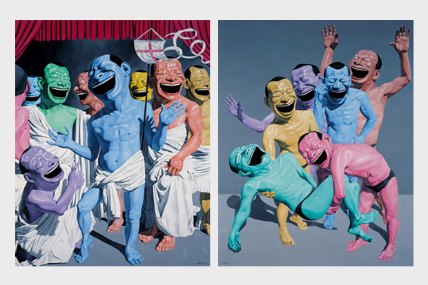 yue minjun the road the pace gallery beijing