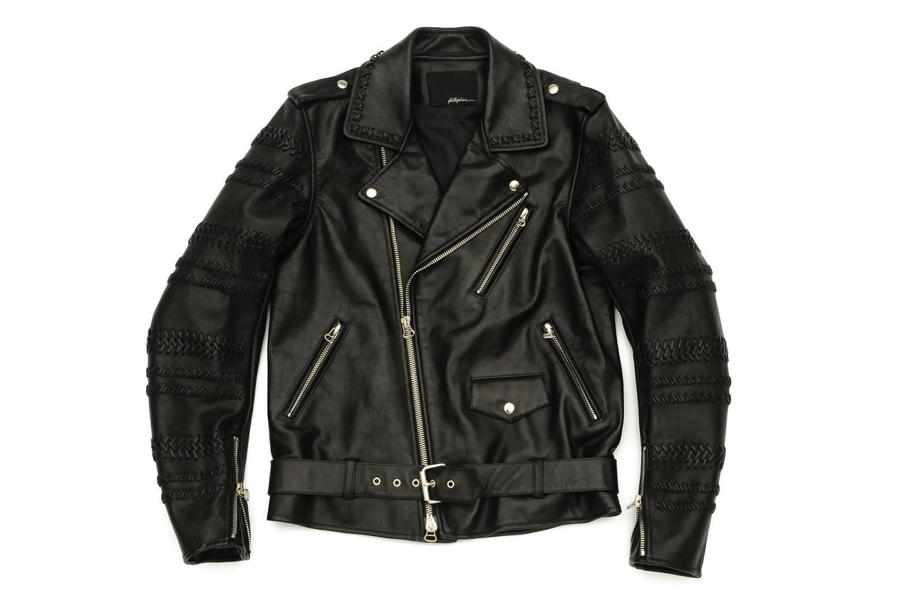 3 1 phillip lim hand braided sleeve motorcycle jacket