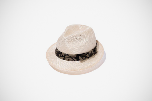 a bathing ape abc deco short brim straw hat