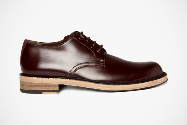 Acne Bleeker Red Leather Derby Shoes
