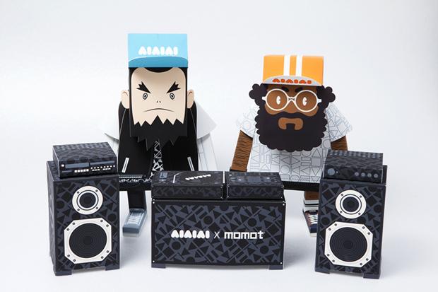 aiaiai x momot paper toys