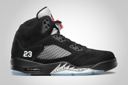 Air Jordan 5 Retro Black/Varsity Red - Metallic Silver