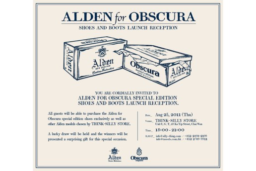 Alden for Obscura Shoes and Boots Launch Reception