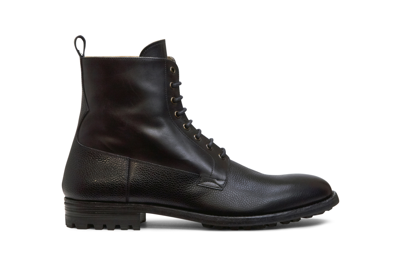 alexander mcqueen two tone leather boots