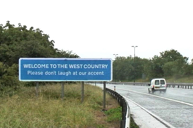 banksy west country road sign