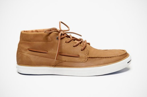 Converse Jack Purcell Mid-Top Leather Boat Shoe