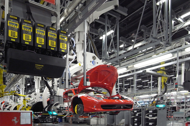 designboom ferrari factory tour assembly line