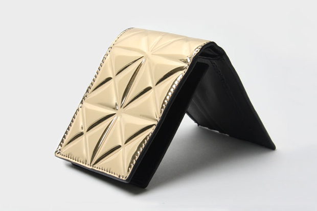 Gareth Pugh Tessellated Gold Wallet
