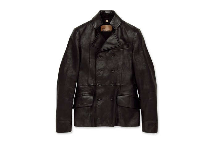John Galliano Homme Leather P-Coat