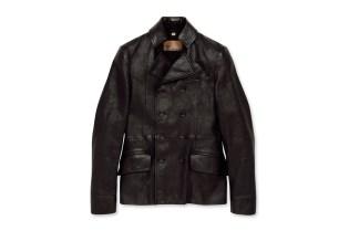 John Galliano Homme Leather P-Coat