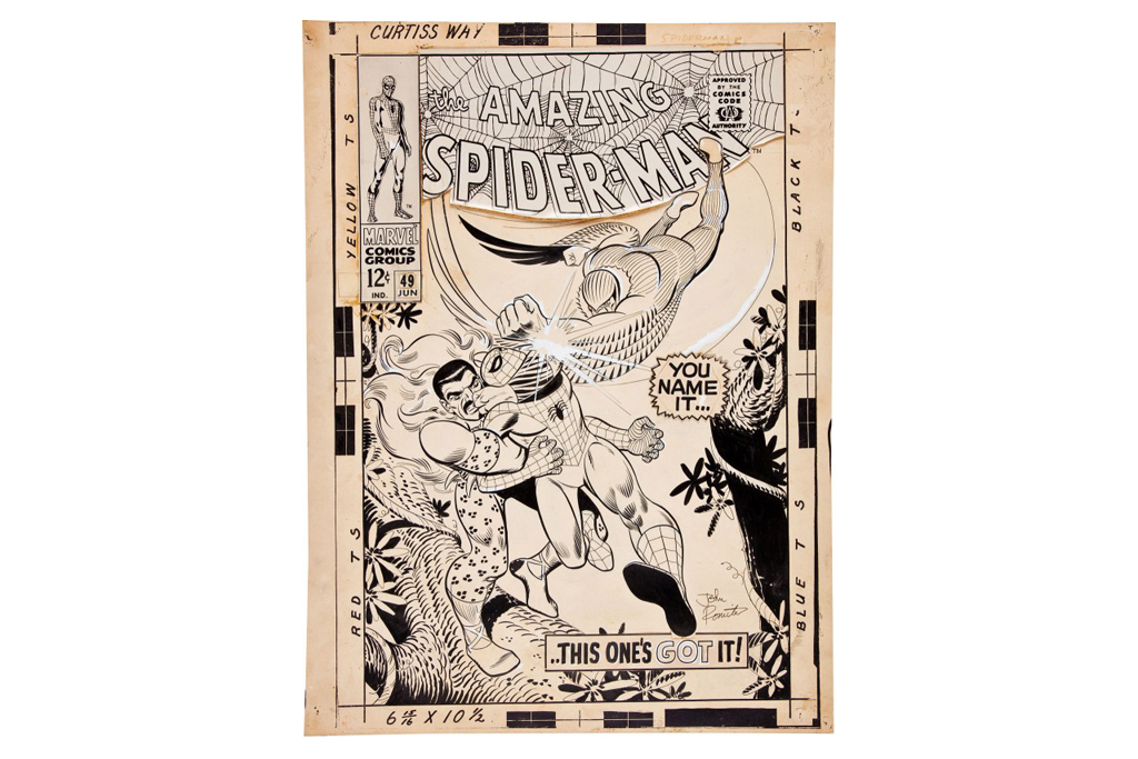 John Romita Spider-Man #49 Cover Art Auction
