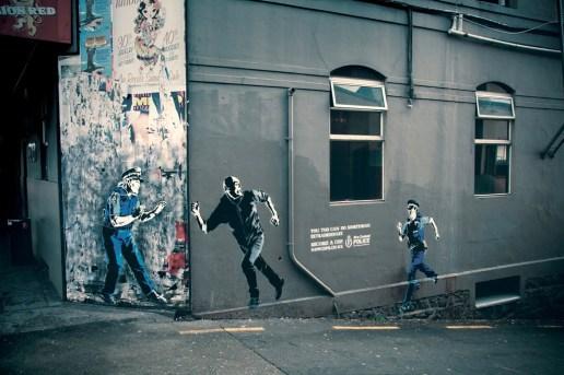 Kiwi Police do Banksy-Style Recruitment Street Ads