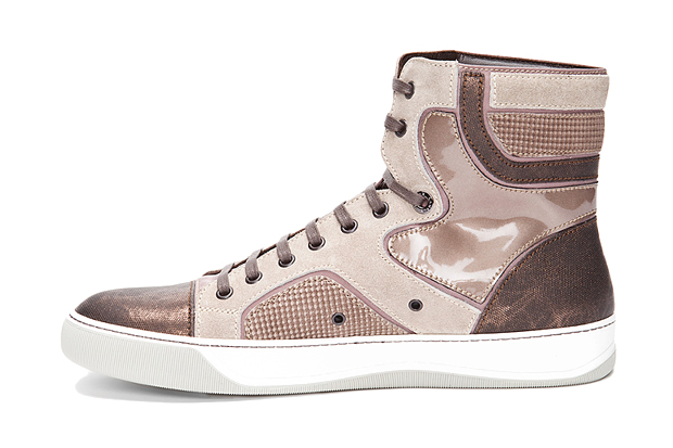 Lanvin 2011 Fall/Winter High-Top Taupe Sneakers