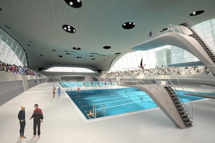 london aquatics centre by zaha hadid