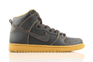 "Nike SB Dunk High Pro ""Anthracite/Gold"""