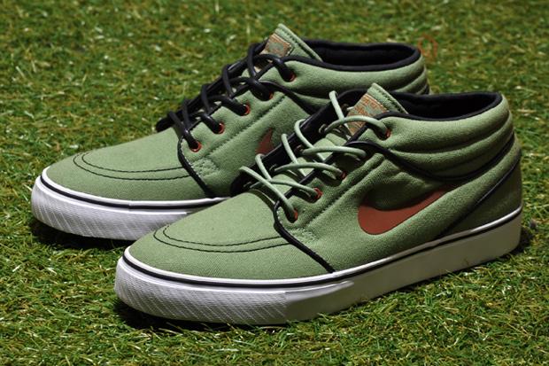 Nike SB Stefan Janoski Mid Oil Green