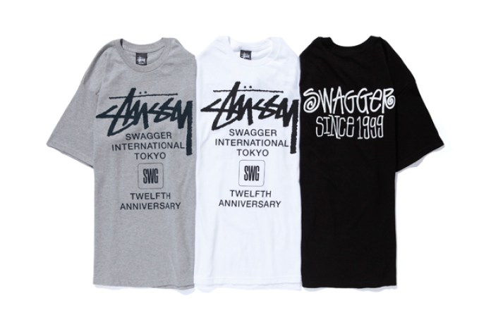 "SWAGGER x Stussy 12th Anniversary ""International"" T-Shirt"