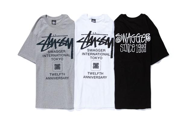 "SWAGGER x Stussy 12th Anniversary ""International"" T-Shirt"