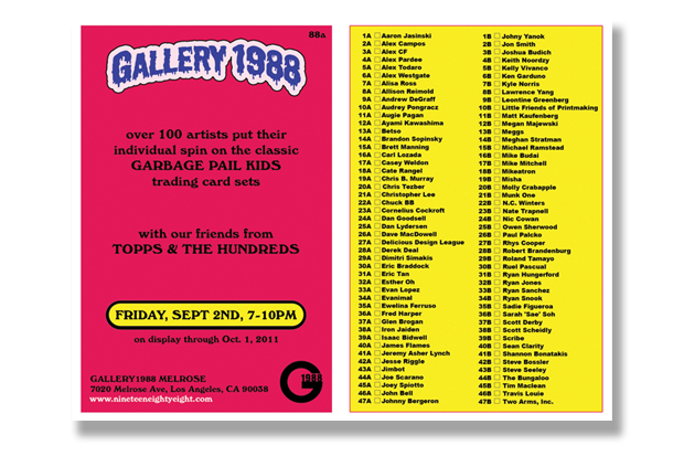 """The Hundreds x Gallery 1988 x Topps """"Garbage Pail Kids"""" Exhibition"""