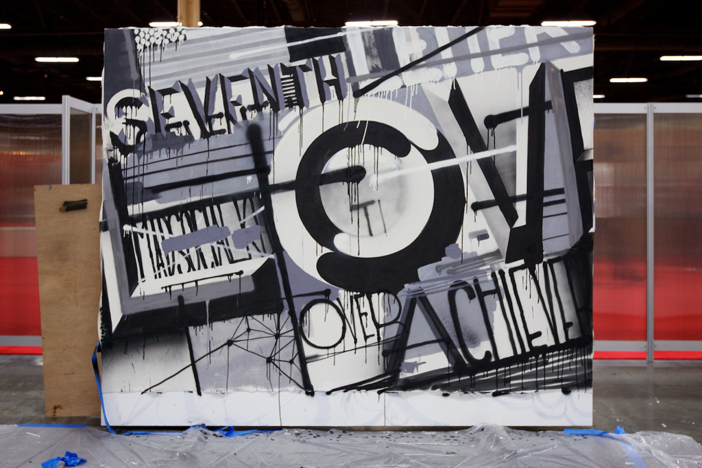 the seventh letter crew live painting session s l a t e