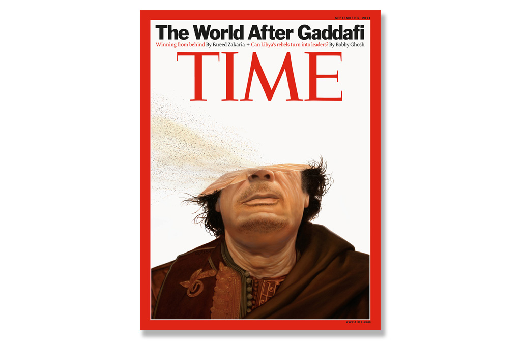 Tim O'Brien for TIME Magazine Muammar Gaddafi Cover