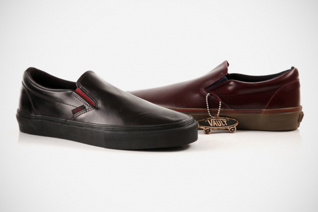 vans vault premio leather slip ons