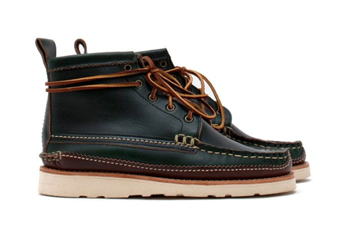 "Yuketen ""Loden Green"" Maine Guide 5 Eye Boot"