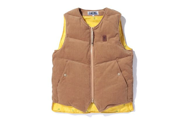 A Bathing Ape CORDUROY DOWN VEST