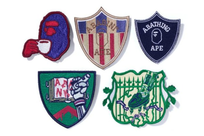 A Bathing Ape MORALE PATCH SET