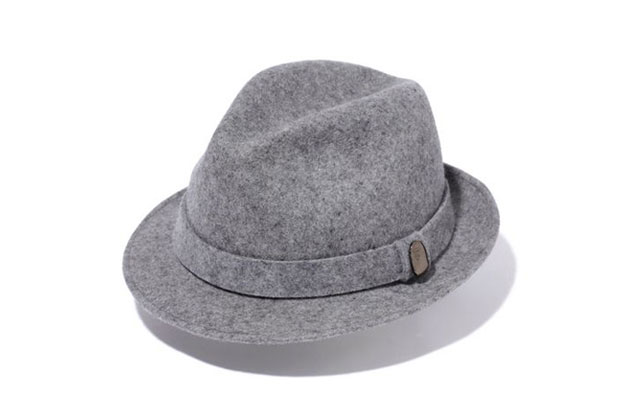 a bathing ape short brim felt hat