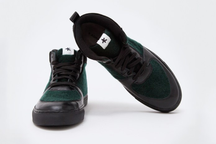 Adam Kimmel Leather Sneaker Black/Dark Green
