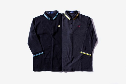 BEAMS x Fred Perry 3/4 Length Polo Shirts