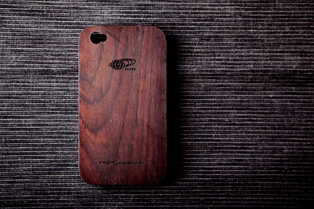 BEAMS x master-piece Wooden iPhone 4 Case