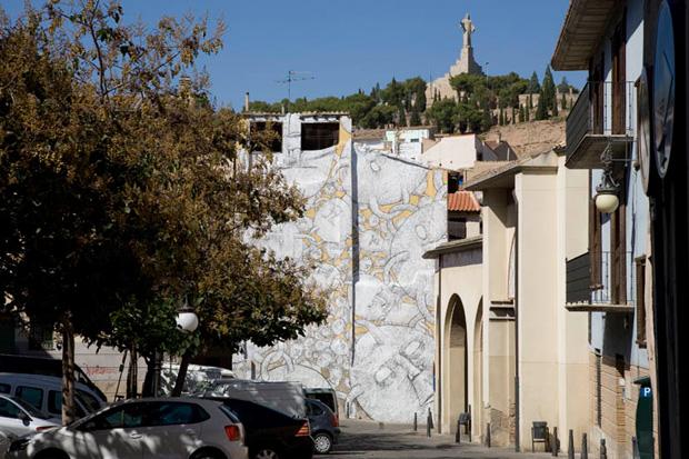 Blu @ Tudela Avant-Garde Urbano Festival, Spain